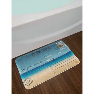 Nostalgic Travel Bath Rug