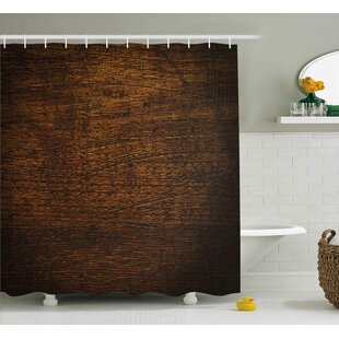 Middleton Wooden Old Vintage Antique Timber Oak Background Rustic Floor Artisan Photo Print Single Shower Curtain by Union Rustic Wonderful