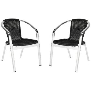 Correa Stacking Patio Dining Chair (Set of 2)