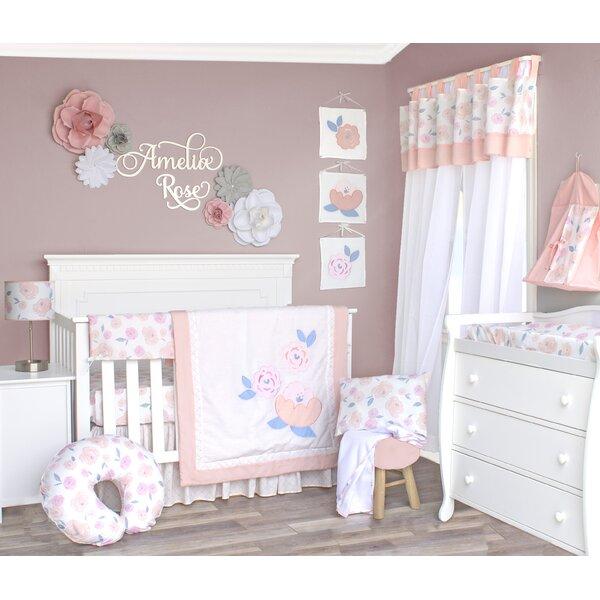 13 Piece GEENNY Boutique Crib Bedding Set Charming Flower