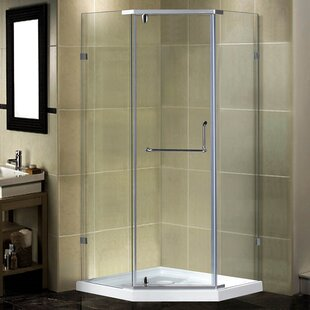 38 x 77.5 Neo-Angle Hinged Shower enclosure by Aston