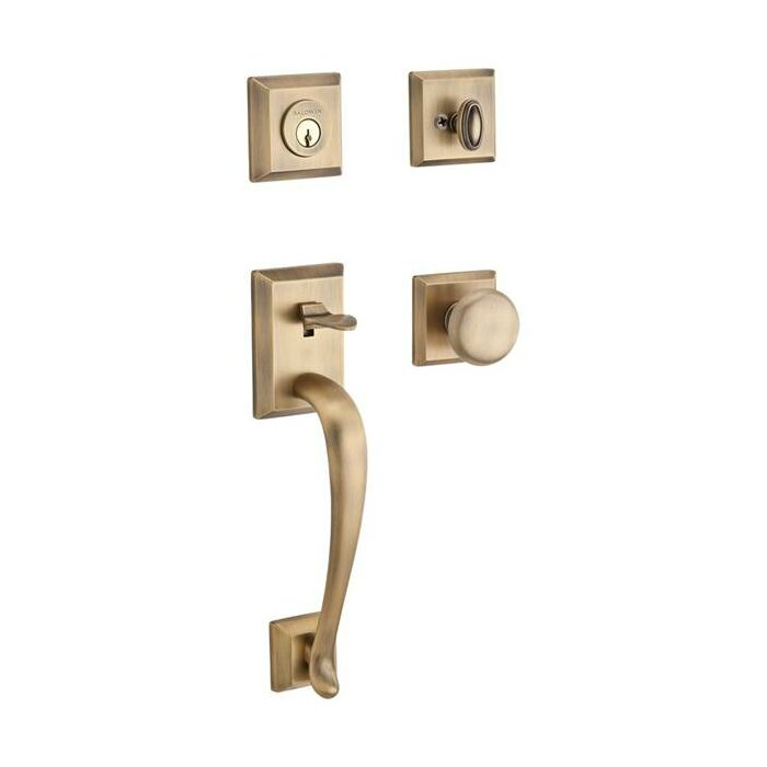 Napa Single Cylinder Handleset With Round Door And Traditional Square Rose