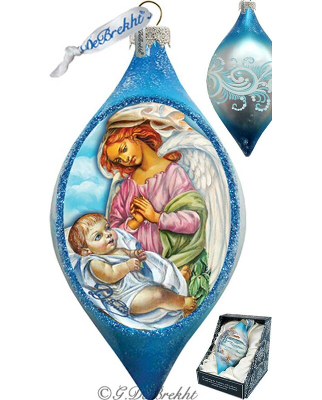 The Holiday Aisle Led Angelic Touch Glass Ornament Drop Holiday Splendor Collection Wayfair