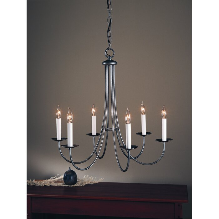 6 Light Candle Style Clic Traditional Chandelier