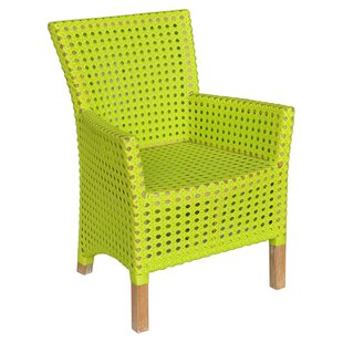 Irvin Indoor/Outdoor Teak & Rattan Arm Chair