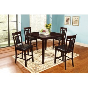 Delphos 5 Piece Counter Height Dining Set Winston Porter