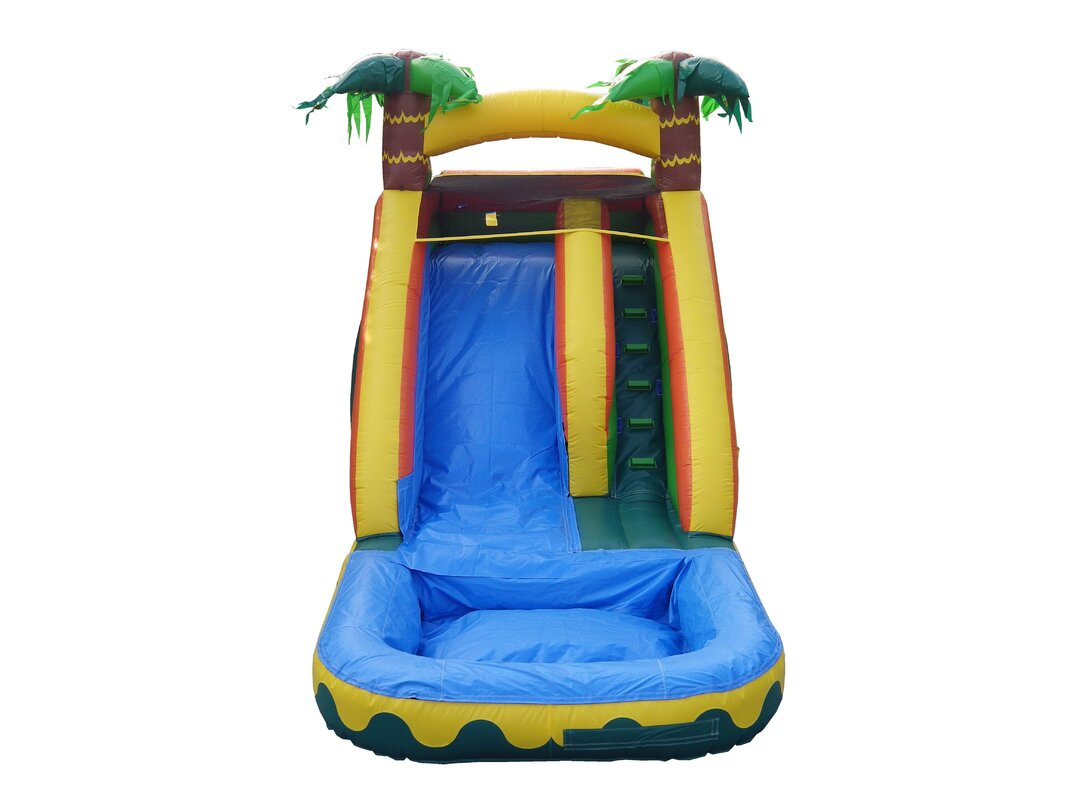 jumporange tropical aloha xtreme wet/dry water slide & reviews | wayfair