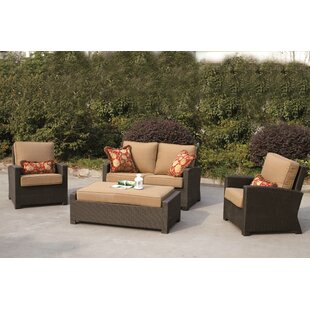 Stockholm 4 Piece Sofa Set with Cushions