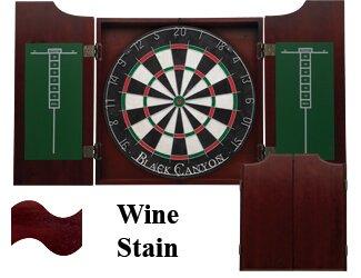 Dart Board Cabinet in Wine Black Canyon