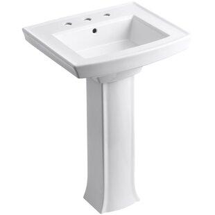 Archer Vitreous China 24 Pedestal Bathroom Sink Kohler