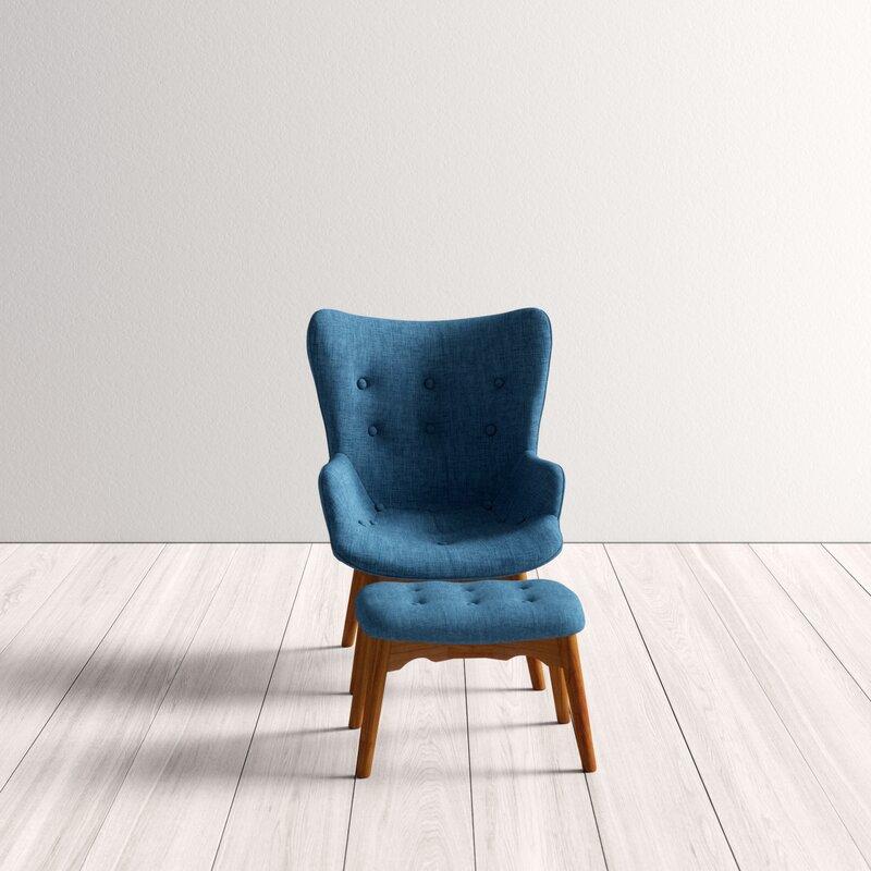 Canyon Vista Lounge Chair And Ottoman Amp Reviews Allmodern