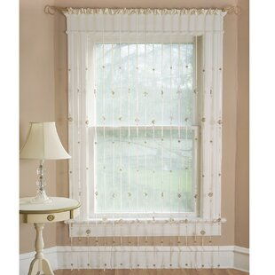 Crackle Rod Pocket Single Curtain Panel
