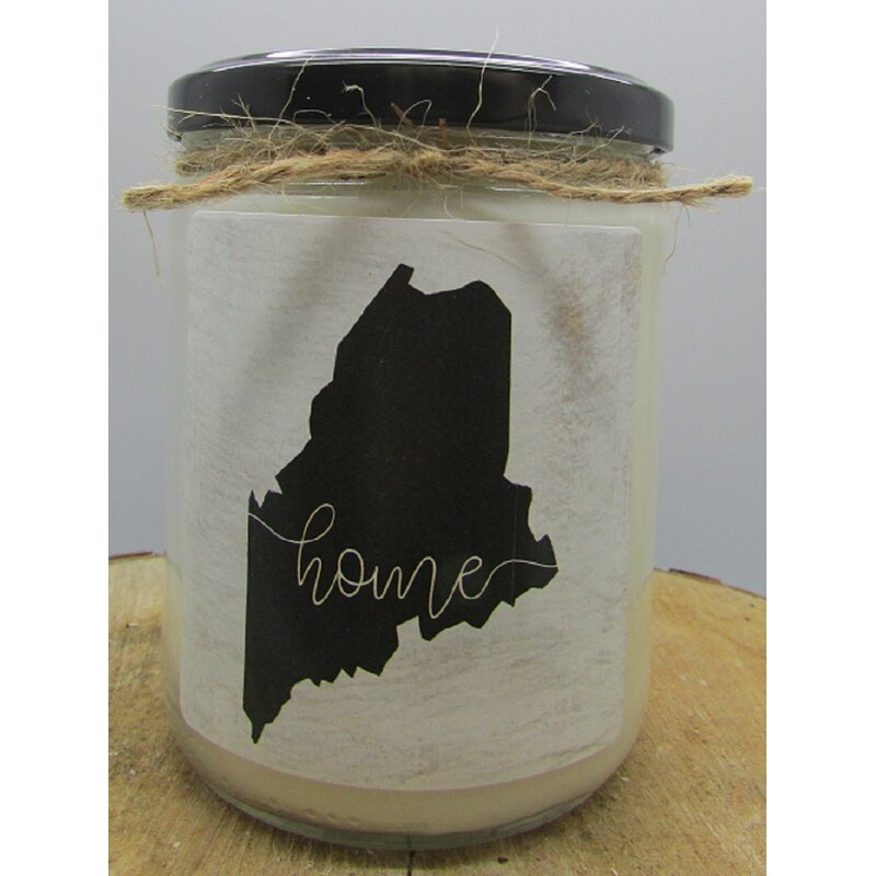 Gracie Oaks Maine White Cotton And Bergamot Scented Jar Candle Wayfair