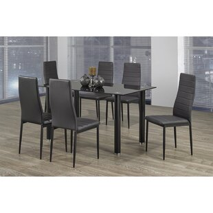 gray dining room chairs. Lowville 7 Piece Dining Set Gray Room Chairs
