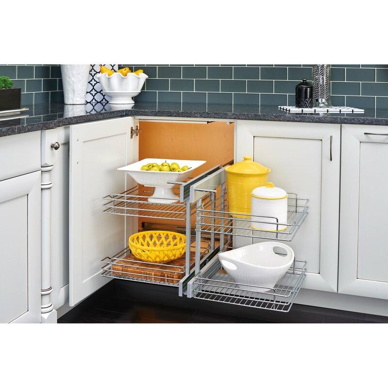 Rev A Shelf Small Blind Corner Cabinet Optimizer Reviews Wayfair