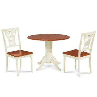 Forthill 3 Piece Solid Wood Dining Set