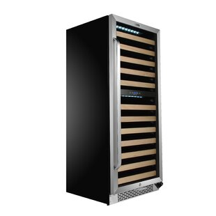 92 Bottle Dual Zone Built-In Wine Cooler by Whynter