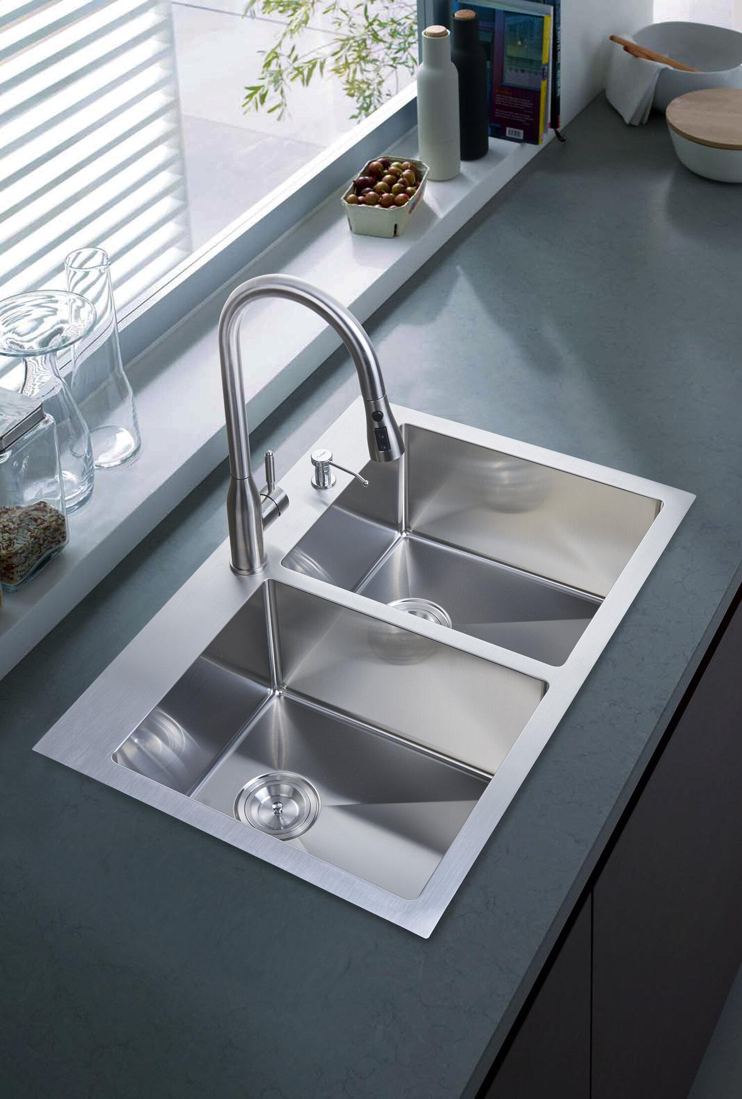 33 X 22 Overmount Kitchen Sink