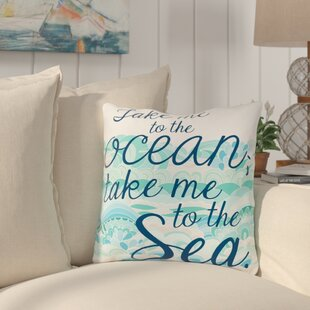 Brecht Take Me to the Ocean Throw Pillow