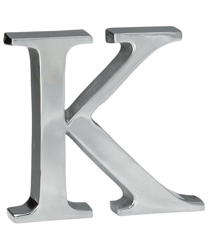 Lettre argentée en aluminium