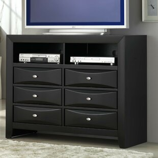 Plumwood 6 Drawer Media Chest