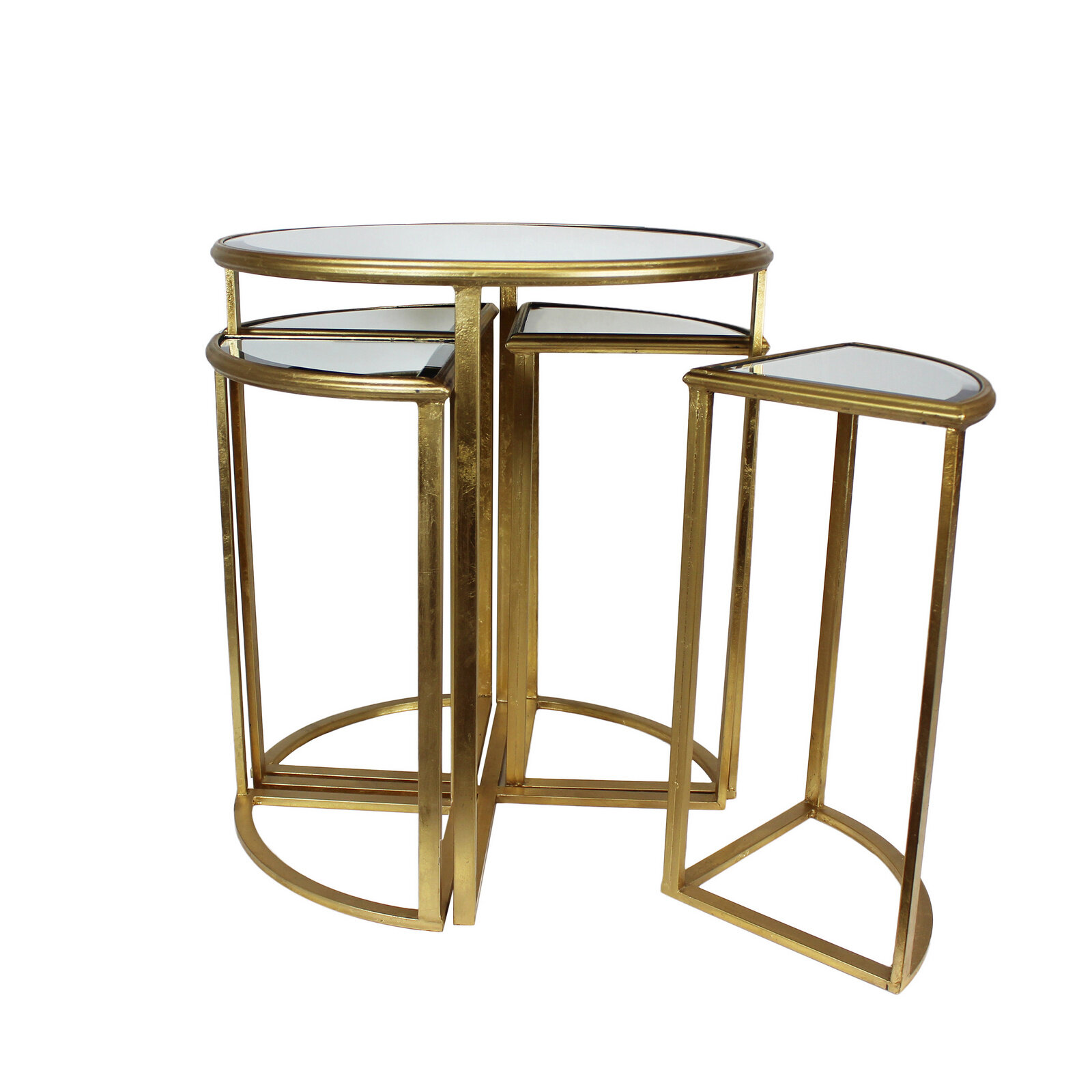 Mercer41 Markita Mirror End Table With 4 Chairs | Wayfair