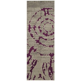 Varnai Light Gray/Purple Area Rug by World Menagerie