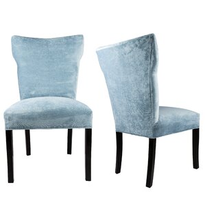Cresson Wing Back Upholstered Parsons Chair (Set of 2) by Everly Quinn