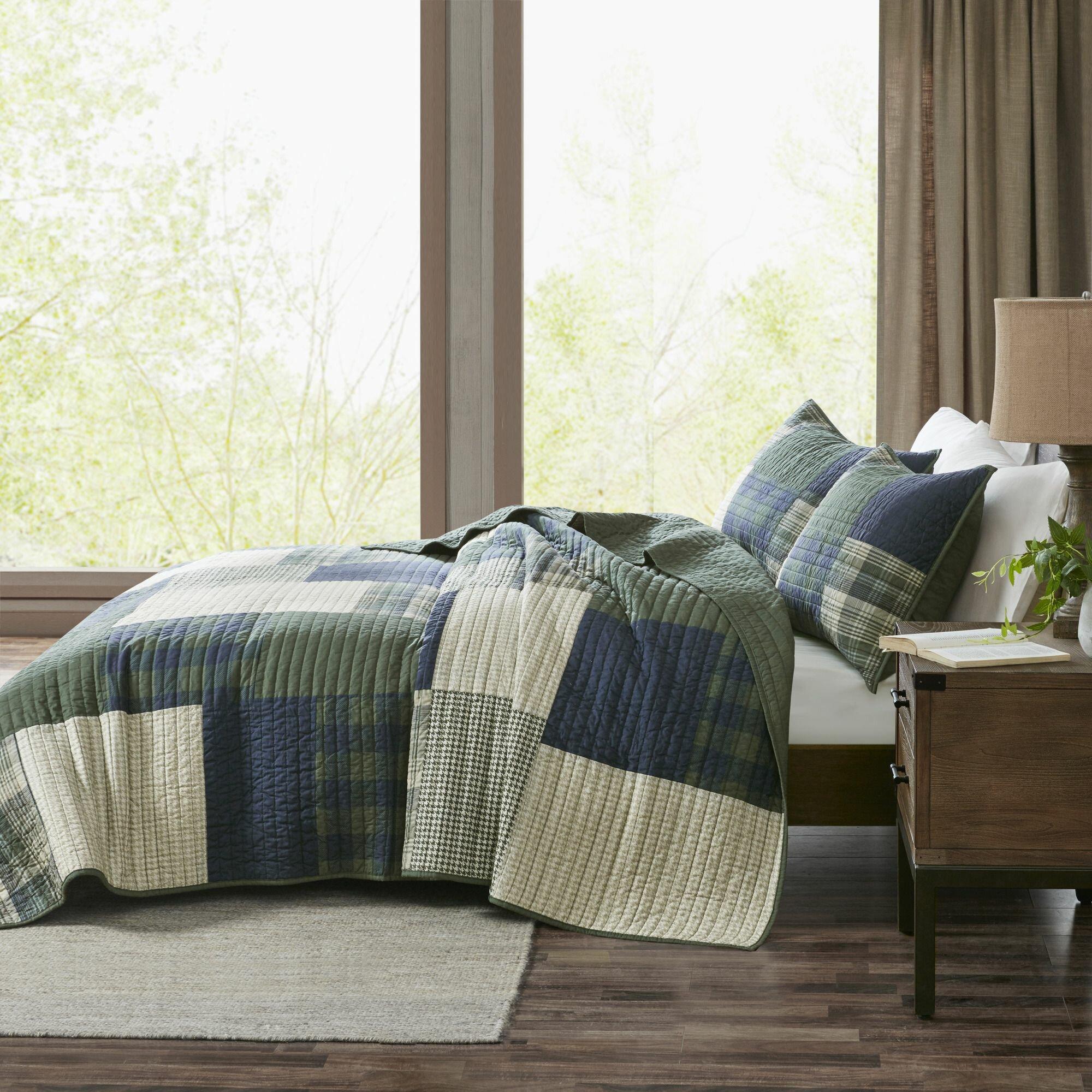 Beach Cottage Blues Greens Patchwork Quilt Sham Window Valance Pillow