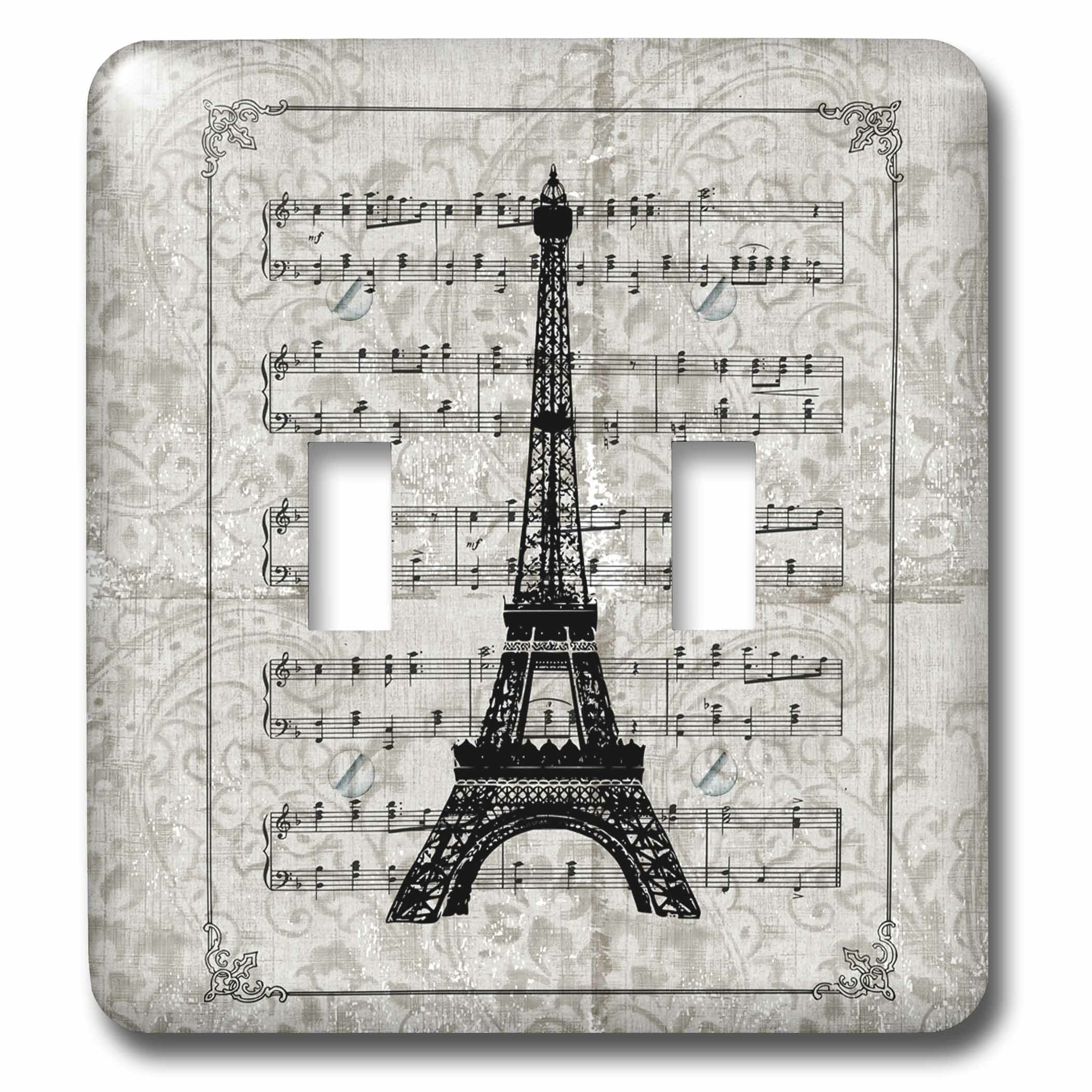 3drose Song Sheet With Eiffel Tower French Art 2 Gang Toggle Light Switch Wall Plate Wayfair