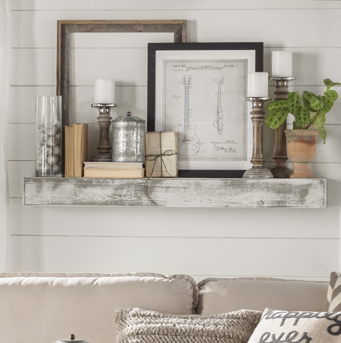 Pdf Tv Stand Wall Design Plans Diy Free Decorative Wood: Essex Hand Crafted Wood Products Floating Shelf In Shabby