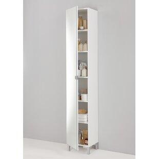 33.5x 195.5cm Free Standing Tall Bathroom Cabinet
