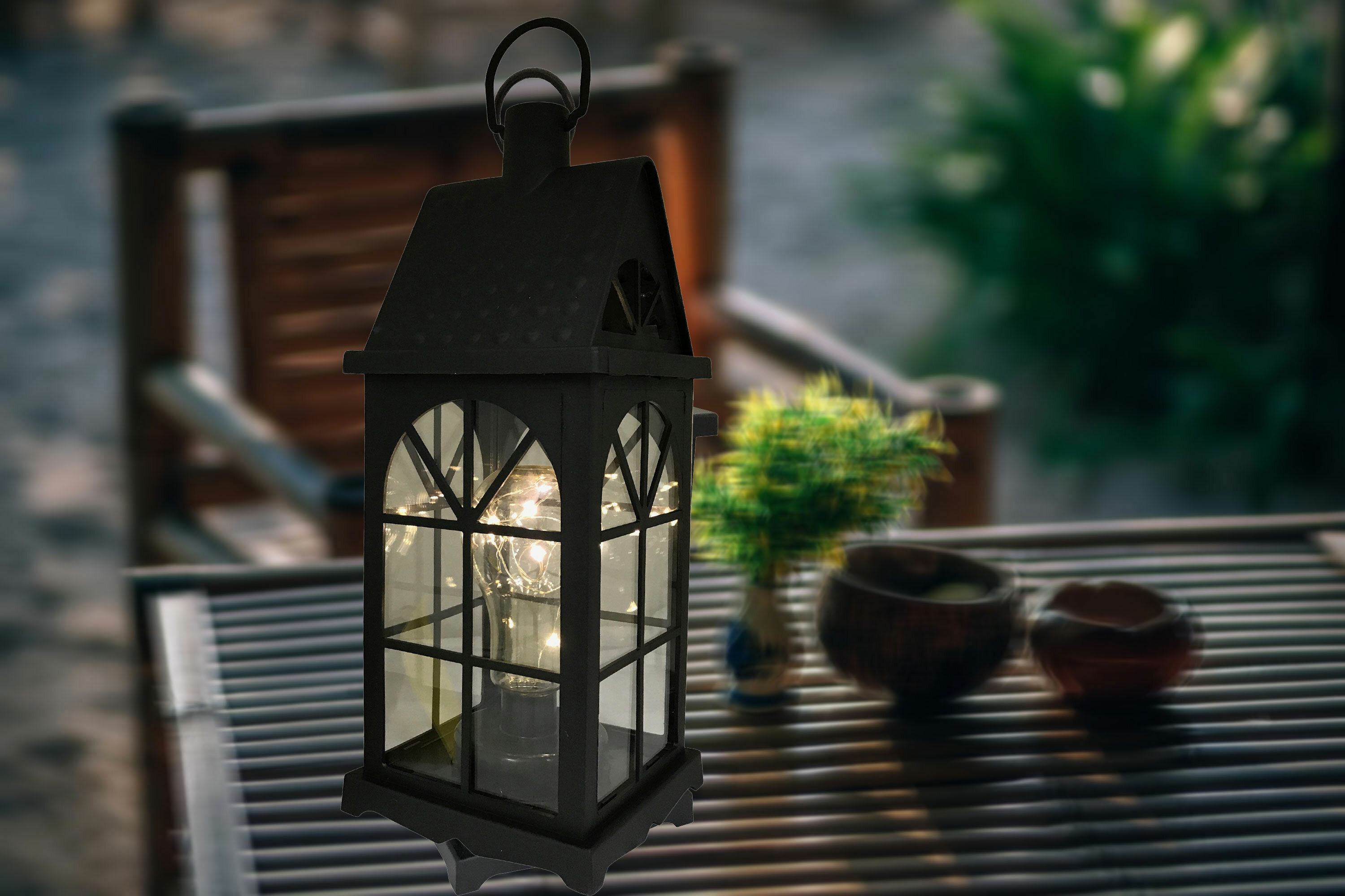 Charlton Home Maryam Battery Operated 1 Light Led Outdoor Hanging Lantern Wayfair