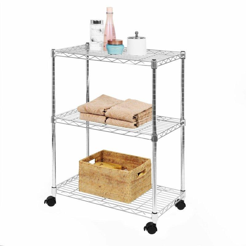 Wayfair Basics™ Wayfair Basics 3 Shelf Wire Shelving Unit & Reviews ...