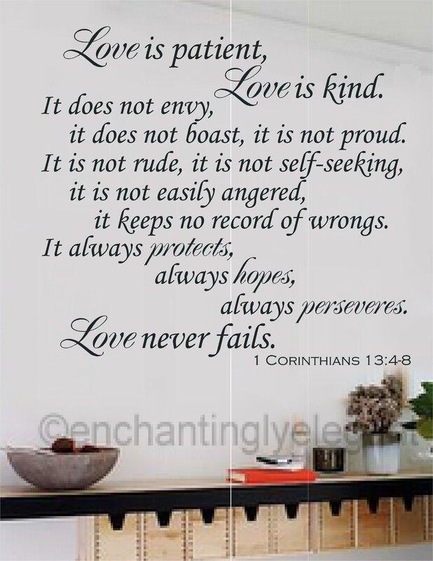 Love Is Patent Love Is Kind Bible Verse Wall Decal Part 93