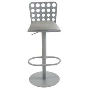 Burger Adjustable Height Swivel Bar Stool..