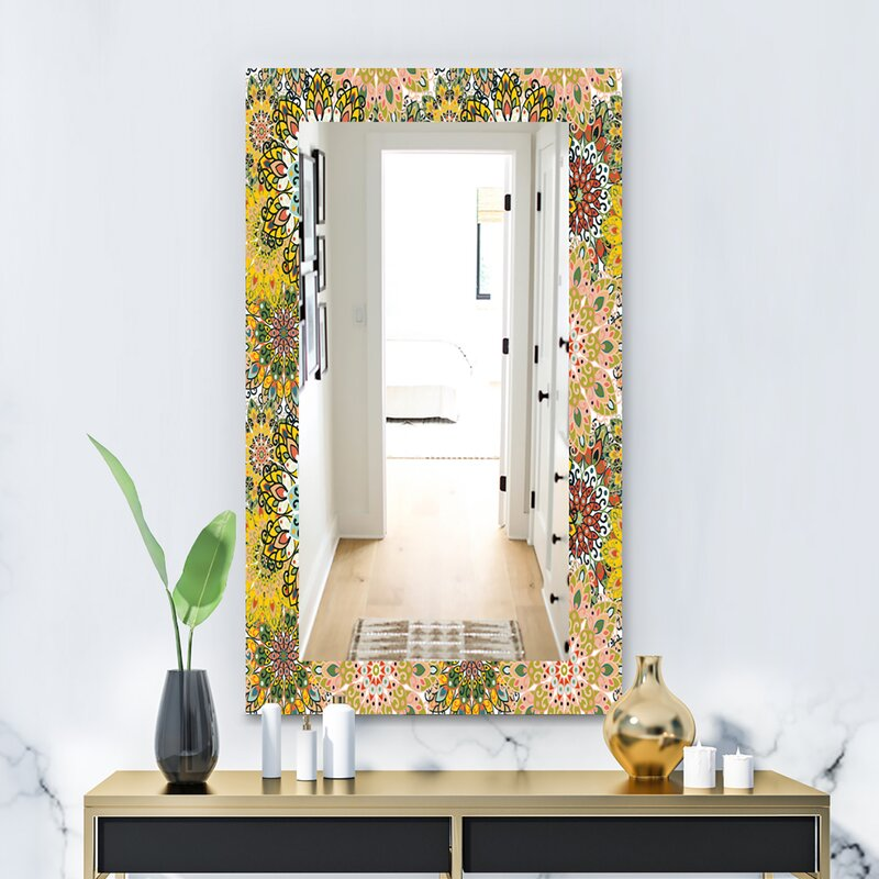 East Urban Home For Printing On Fabric Or Paper Bohemian And Eclectic Wall Mirror Wayfair