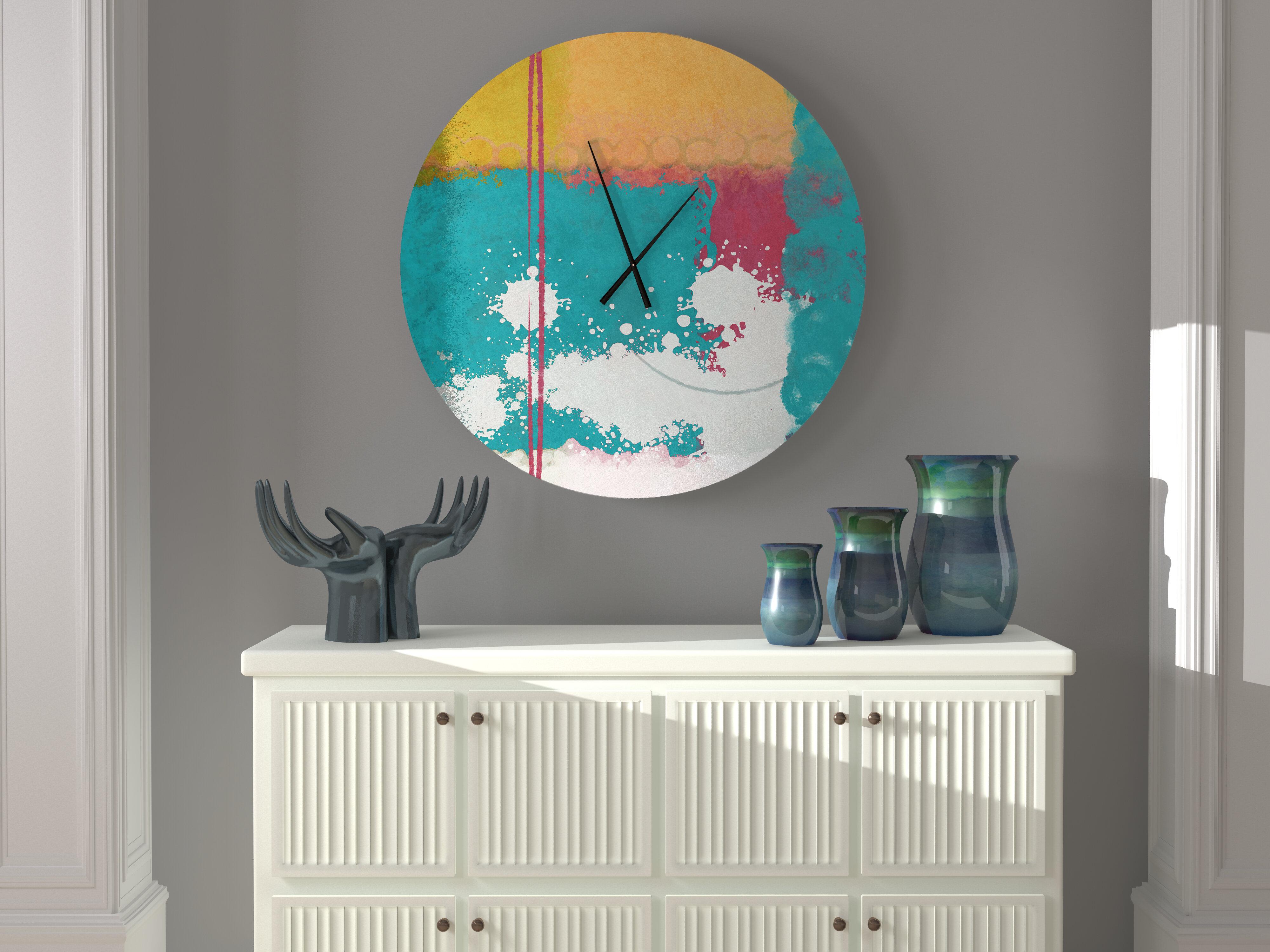 Latitude Run Well Read Cute Abstract Metal Wall Clock Wayfair