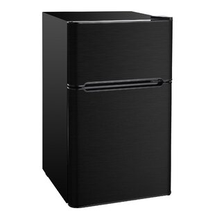 2 Door 3.2 cu. Compact Refrigerator with Freezer