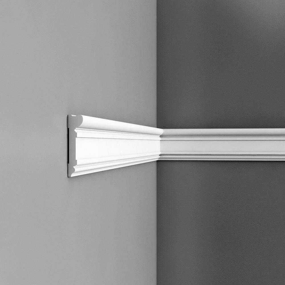 Orac Decor High Density Polyurethane Primed White 3 5 8 H X 78 W X 7 8 D Chair Rail Wayfair
