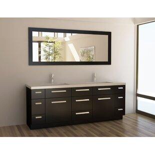 Arnette 84 Double Bathroom Vanity Set with Mirror by Mercury Row