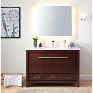 Meubles-lavabos 48 po: Ton du bois - Bois rouge | Wayfair.ca