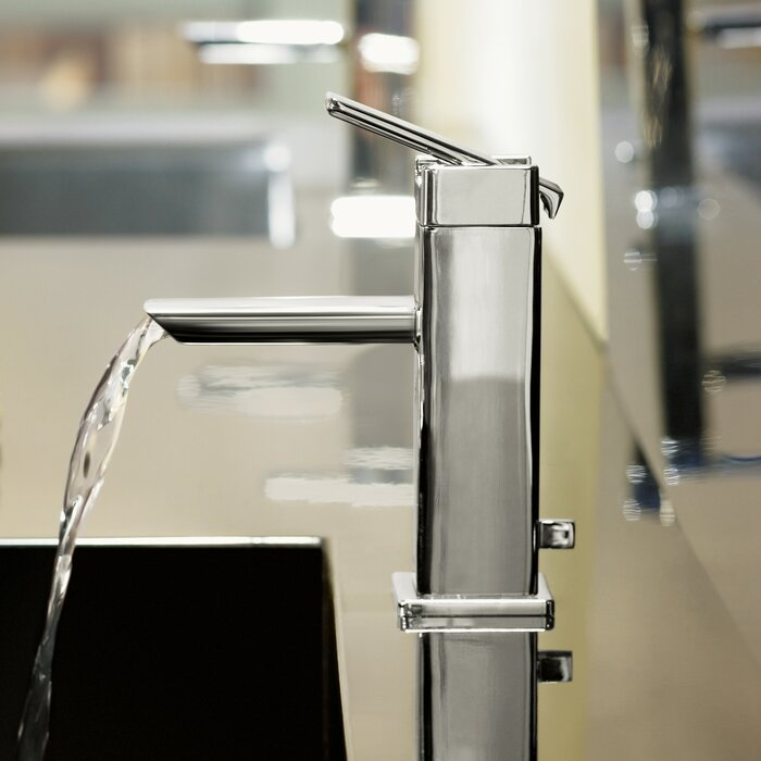 90 Degree Single Hole Low Arc Bathroom Faucet With Drain