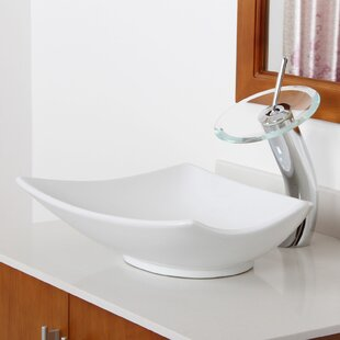 Reviews Ceramic Specialty Vessel Bathroom Sink By Elite