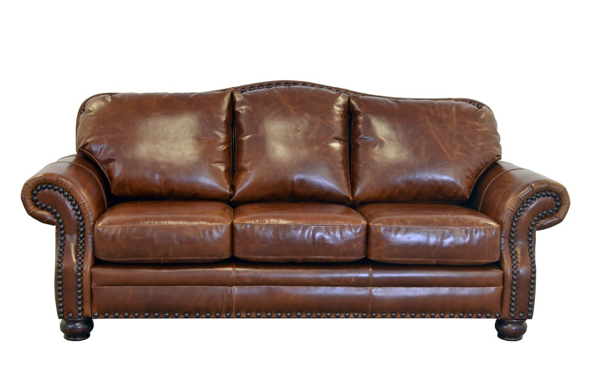 Captivating Parker Genuine Top Grain Leather Sofa
