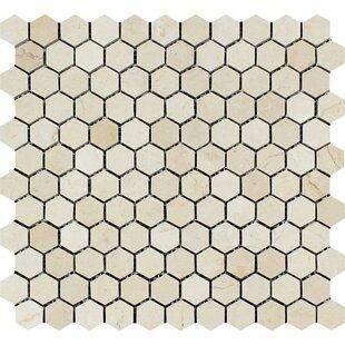 Spanish Hexagon 1 X Natural Stone Mosaic Tile In Cream Beige