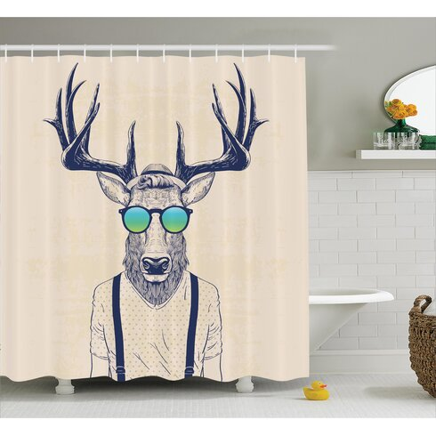East Urban Home Cool Hipster Fashion Shower Curtain | Wayfair