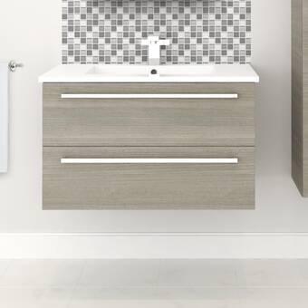 Orren Ellis Mcpeak 48 Wall Mounted Single Bathroom Vanity Set Reviews Wayfair