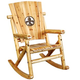 Alaniz Fleur de Lis Medallion Single Rocking Chair