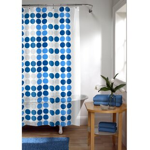 Trina Dot Vinyl Single Shower Curtain